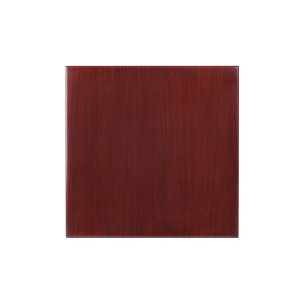 Flash Furniture 24 Inch Square Resin Mahogany Table Top FLF-TP-MAH-2424-GG