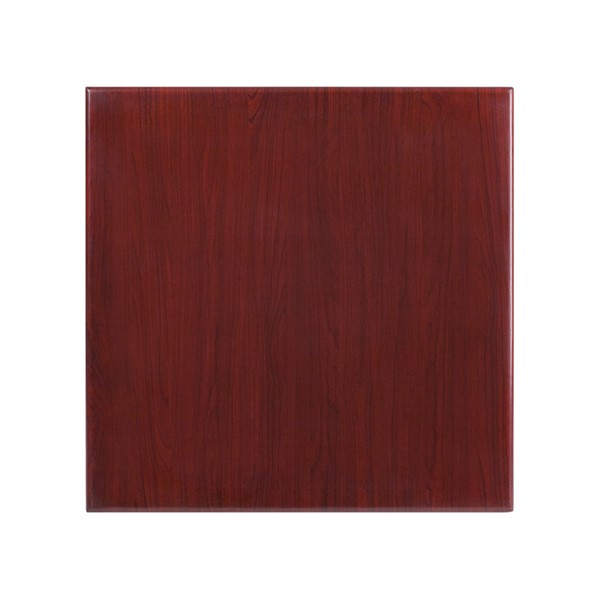 Flash Furniture 30 Inch Square Resin Mahogany Table Top FLF-TP-MAH-3030-GG