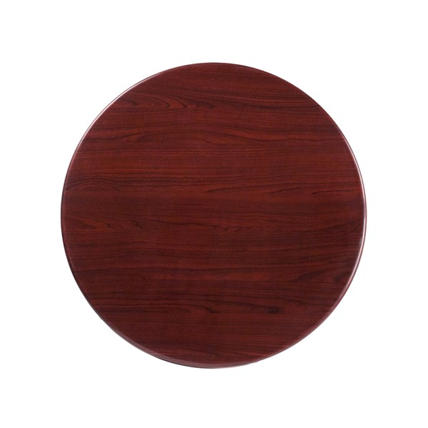 30 Inch Round Resin Mahogany Table Top FLF-TP-MAH-30RD-GG