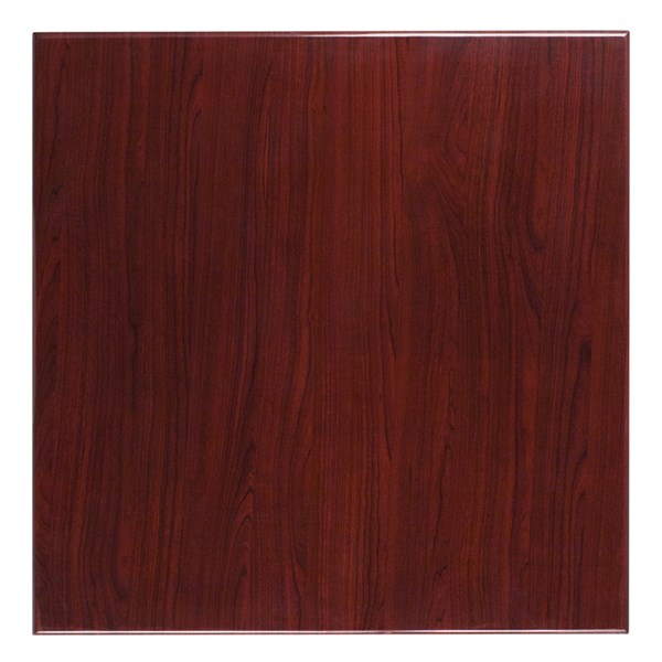 36 Inch Square Resin Mahogany Table Top FLF-TP-MAH-3636-GG