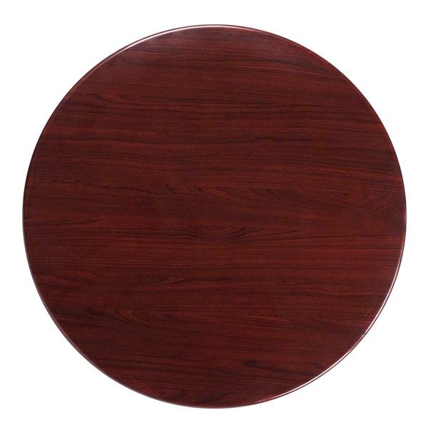 Flash Furniture 36 Inch Round Resin Mahogany Table Top FLF-TP-MAH-36RD-GG