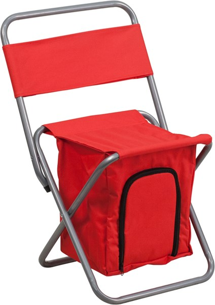 Flash Furniture Kids Folding Red Camping Chair with Insulated Storage FLF-TY1262-RED-GG