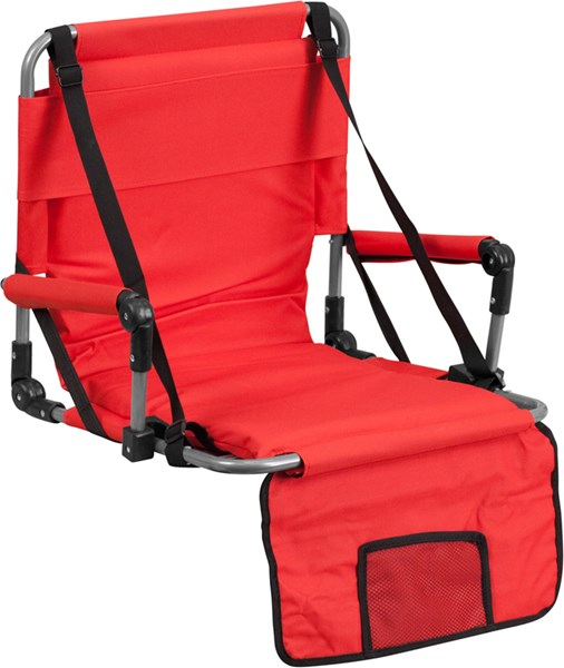 Folding Red Canvas Fabric Stadium Chair FLF-TY2710-RED-GG