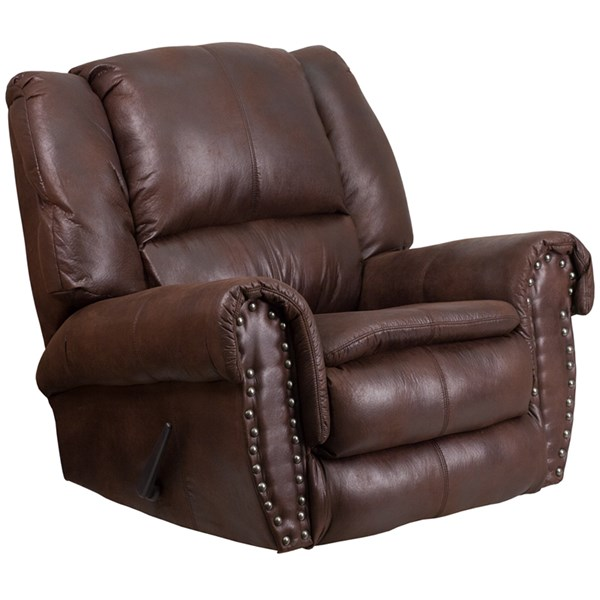Contemporary Breathable Comfort Padre Espresso Fabric Rocker Recliner FLF-WA-1459-690-GG