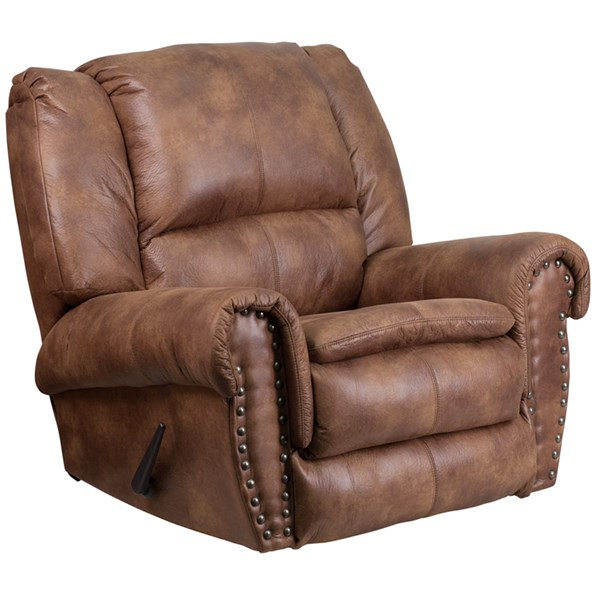 Contemporary Breathable Comfort Padre Almond Fabric Rocker Recliner FLF-WA-1459-691-GG