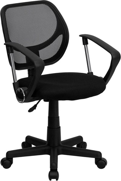 Flash Furniture Mid Back Mesh Swivel Task Arm Chairs FLF-WA-3074-A-GG-VAR