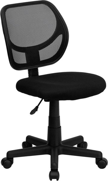 Mid-Back Black Mesh Adjustable Height Swivel Task Chair FLF-WA-3074-BK-GG