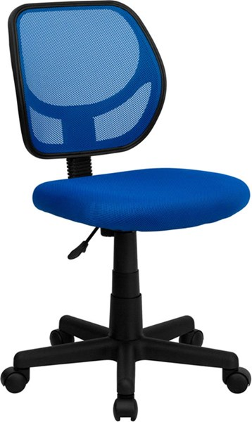 Flash Furniture Mid Back Blue Mesh Swivle Task Chair FLF-WA-3074-BL-GG