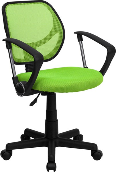Flash Furniture Mid Back Green Mesh Swivel Task Arm Chair FLF-WA-3074-GN-A-GG