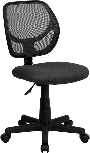 Flash Furniture Mid Back Gray Mesh Swivel Task Chair FLF-WA-3074-GY-GG