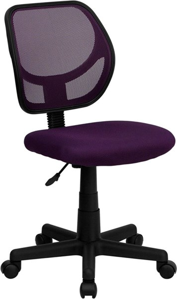 Flash Furniture Mid Back Purple Mesh Swivel Task Chair FLF-WA-3074-PUR-GG