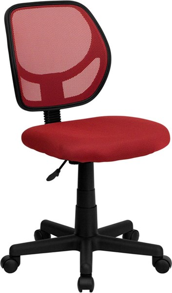 Flash Furniture Mid Back Red Mesh Swivel Task Chair FLF-WA-3074-RD-GG