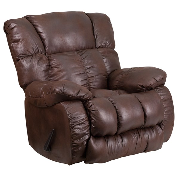 Padre Contemporary Breathable Comfort Espresso Fabric Rocker Recliner FLF-WA-8230-690-GG