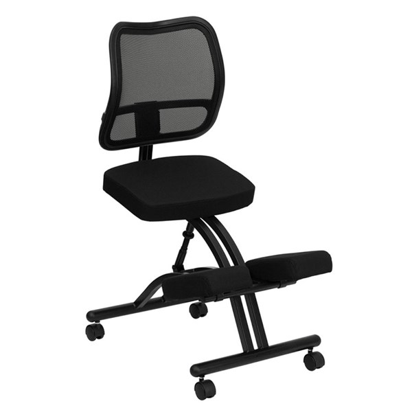Flash Furniture Black Curved Mesh Back Mobile Ergonomic Kneeing Chair FLF-WL-3520-GG