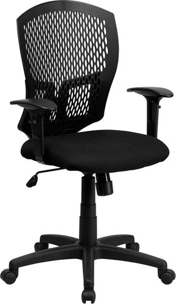 Flash Furniture Fabric Mid Back Designer Back Task Chairs FLF-WL-3958SYG-BK-A-GG-VAR