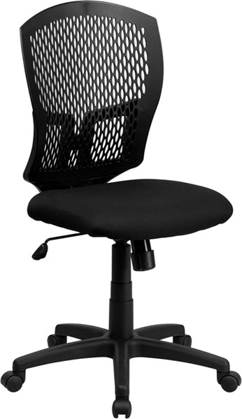 Flash Furniture Fabric Mid Back Designer Back Task Chair FLF-WL-3958SYG-BK-GG