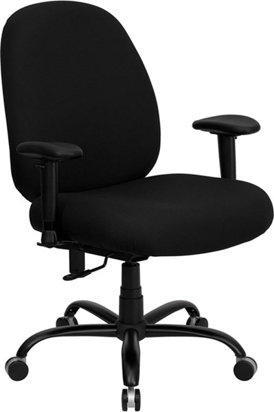 Flash Furniture Hercules Big and Tall Black Fabric Office Chair FLF-WL-715MG-BK-A-GG
