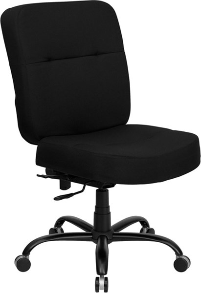 Flash Furniture Hercules Big and Tall Black Fabric Office Chair with Extra Wide Seat FLF-WL-735SYG-BK-GG