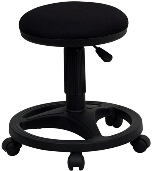 Flash Furniture Black Fabric Plastic Ergonomic Stool FLF-WL-905DG-GG