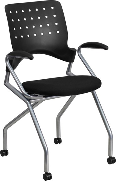 Flash Furniture Galaxy Black Mobile Nesting Chair with Arms FLF-WL-A224V-A-GG