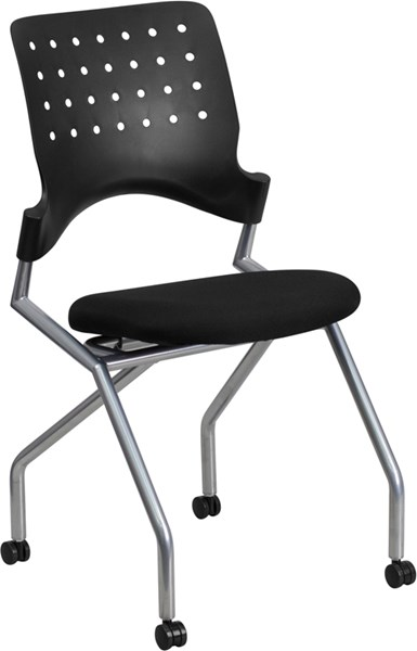 Flash Furniture Galaxy Black Silver Mobile Nesting Chair FLF-WL-A224V-GG