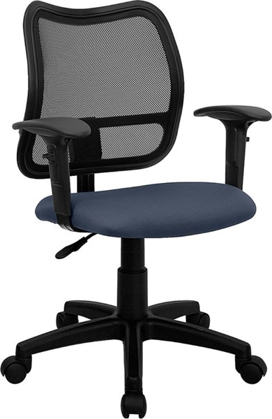 Flash Furniture Navy Blue Fabric Mid Back Mesh Task Chairs FLF-WL-A277-NVY-A-GG-VAR
