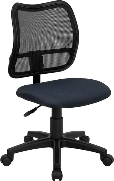 Flash Furniture Navy Blue Fabric Mid Back Mesh Task Chair FLF-WL-A277-NVY-GG