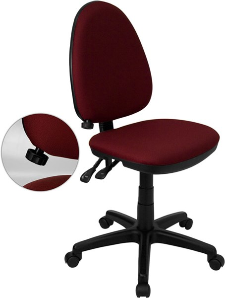 Flash Furniture Burgundy Black Multi-Functional Task Chair FLF-WL-A654MG-BY-GG