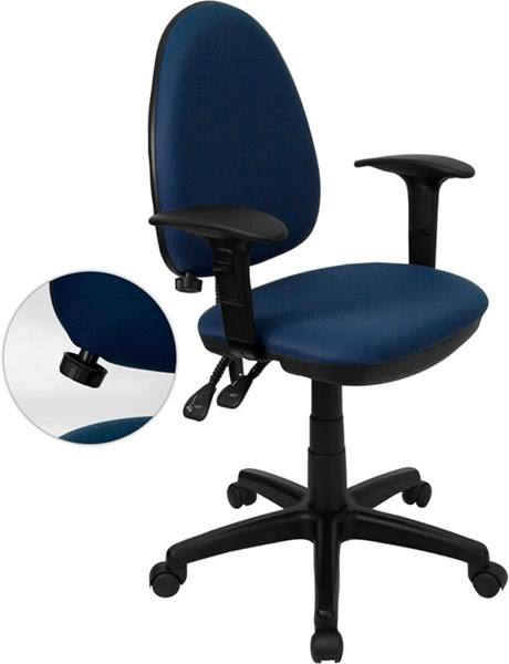 Flash Furniture Mid Back Multi-Functional Task Chairs FLF-WL-A654MG-NVY-A-GG-VAR