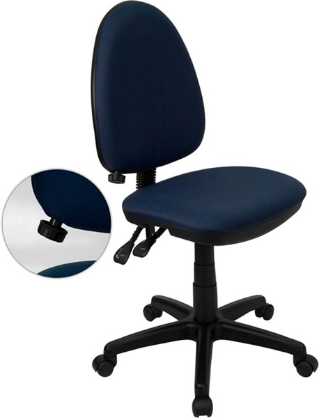 Flash Furniture Mid Back Multi-Functional Task Chair FLF-WL-A654MG-NVY-GG