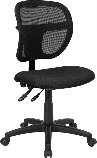 Flash Furniture Black Fabric Mid Back Mesh Task Chair FLF-WL-A7671SYG-BK-GG