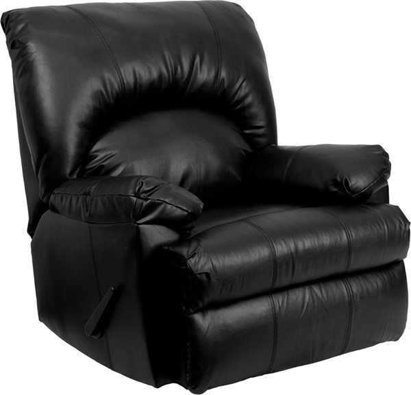 Contemporary Apache Black Leather Rocker Recliner FLF-WM-8500-371-GG