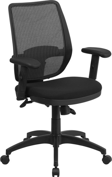 Mid-Back Gray Mesh Swivel Office Chair with Back Angle Adjustment FLF-WR72GREY-GG