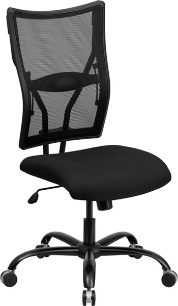 Flash Furniture Hercules Black Fabric Metal Big and Tall Mesh Office Chair FLF-WL-5029SYG-GG