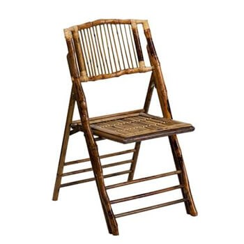 Flash Furniture Brown American Champion Bamboo Folding Chair FLF-X-62111-BAM-GG