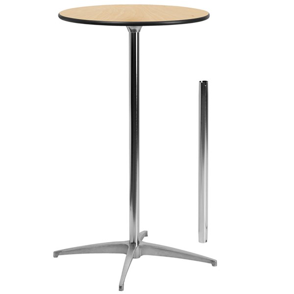 Flash Furniture 24 Inch Round Wood Cocktail Table FLF-XA-24-COTA-GG