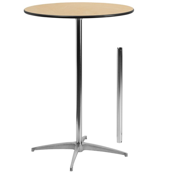 Flash Furniture 30 Inch Round Wood Cocktail Table FLF-XA-30-COTA-GG