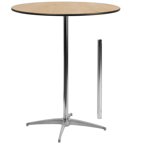 Flash Furniture 36 Inch Round Wood Cocktail Table FLF-XA-36-COTA-GG
