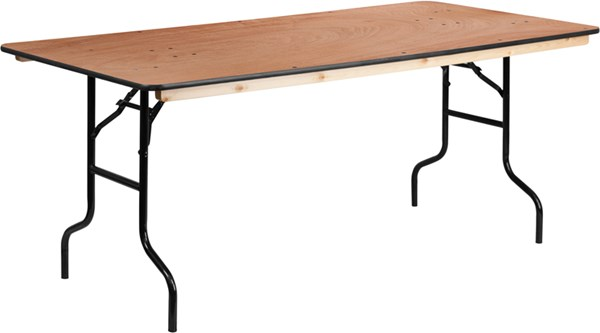 Flash Furniture 36 X 72 Rectangular Wood Folding Banquet Table FLF-XA-3672-P-GG
