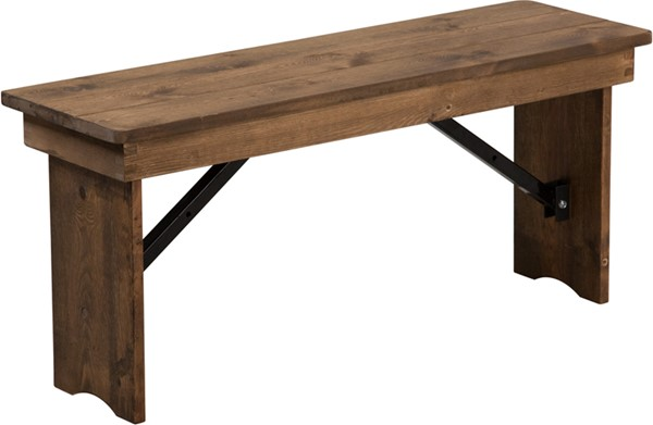 Flash Furniture Hercules Rustic 40 x 12 Folding Farm Bench FLF-XA-B-40X12-GG