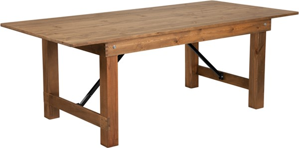 Flash Furniture Hercules Rustic 7 x 40 Folding Farm Table FLF-XA-F-84X40-GG