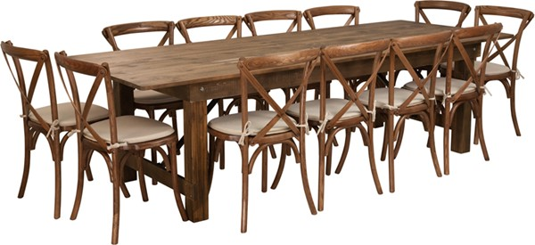 Flash Furniture Hercules Rustic 13pc Dining Room Set FLF-XA-FARM-16-GG