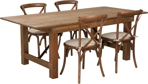 Flash Furniture Hercules Rustic 5pc Dining Room Set FLF-XA-FARM-8-GG