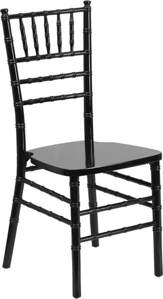 Flash Furniture Hercules Black Wood Chiavari Chair FLF-XS-BLACK-GG