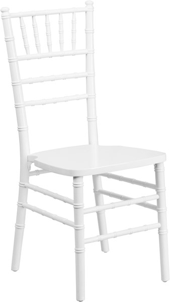 Flash Furniture Hercules White Wood Chiavari Chair FLF-XS-WHITE-GG