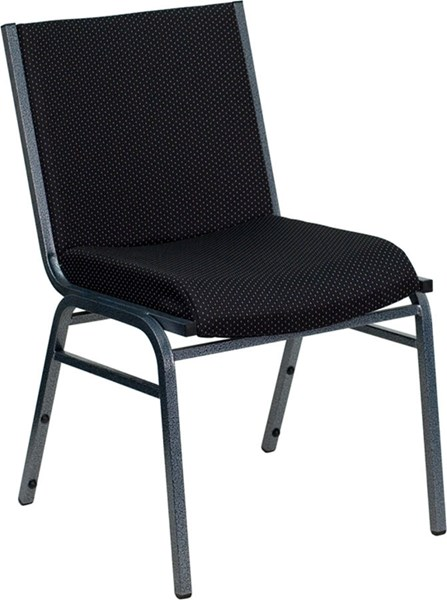Flash Furniture Hercules Heavy Duty 3 Inch Black Upholstered Stack Chair FLF-XU-60153-BK-GG