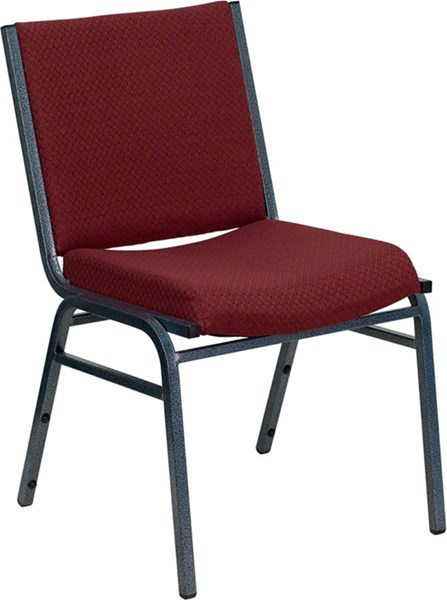 Flash Furniture Hercules Heavy Duty 3 Inch Burgundy Upholstered Stack Chair FLF-XU-60153-BY-GG