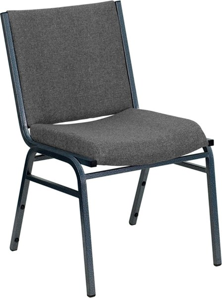 Flash Furniture Hercules Heavy Duty 3 Inch Gray Upholstered Stack Chair FLF-XU-60153-GY-GG