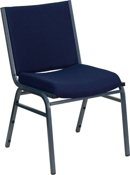 Flash Furniture Hercules Heavy Duty 3 Inch Navy Upholstered Stack Chair FLF-XU-60153-NVY-GG