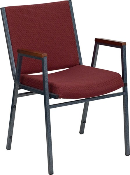 Flash Furniture Hercules Heavy Duty 3 Inch Burgundy Upholstered Stack Arms Chair FLF-XU-60154-BY-GG